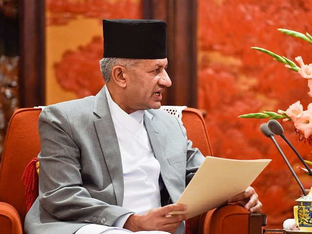 Foreign Minister Gyawali addresses interaction in Brussels