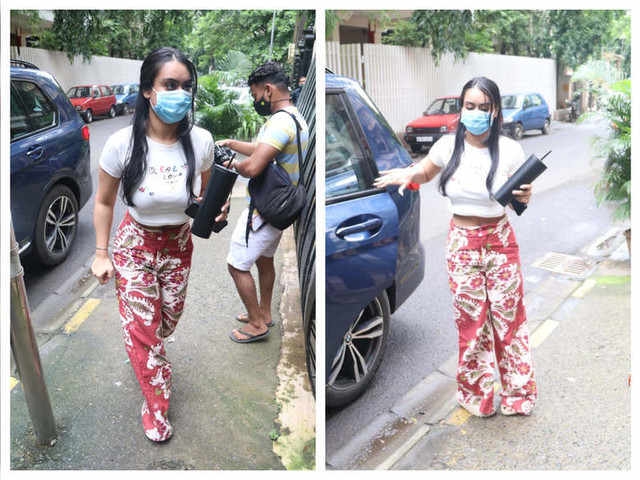 Pics: Nysa heads out for a salon session