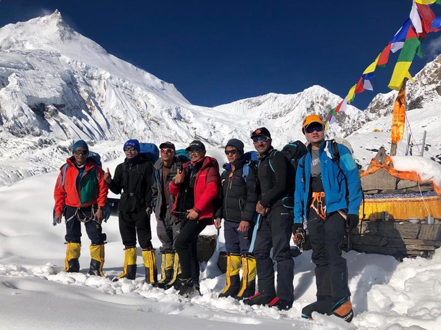Mt Manaslu summit route opens as rope-fixing team scales mountain