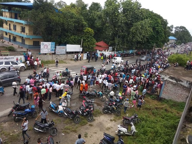 Lamichhane's supporters continue protest in Chitwan