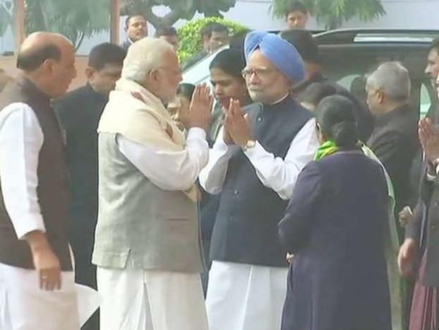 संसद हमले की 16वीं बरसी पर शहीदों को श्रद्धांजलि, मतभेद भुलाकर मनमोहन से मिले मोदी; राहुल भी पहुंचे
