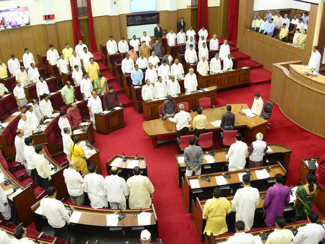Slippers, earphones & papers hurled targeting Speaker's podium in Odisha Assembly