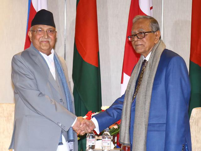 Vice Prez and Prime Minister call on Bangladeshi Prez