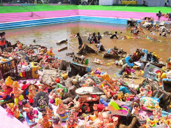 Ganesh Immersion: GHMC removes 17,862 tonnes of idol debris in 3 days