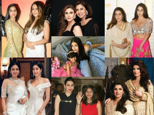 B-wood's most stylish mother-daughter duos
