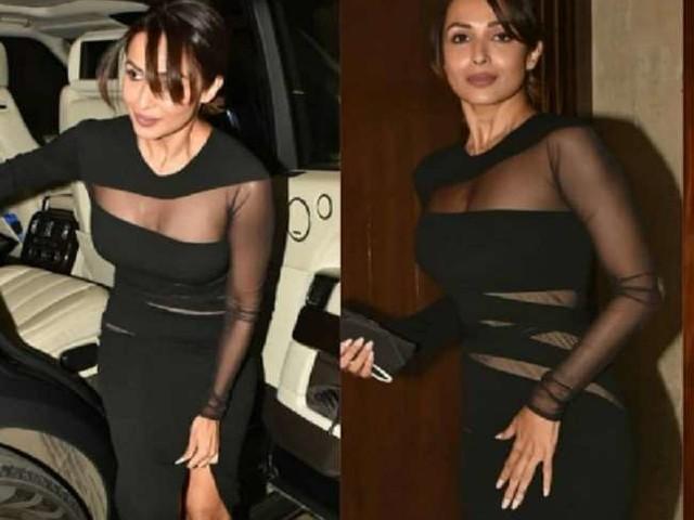 Manish Malhotra की पार्टी में मलाइका अरोड़ा का जलवा, ऑल ब्लैक लुक में ढाया कहर, देखें तस्वीरें