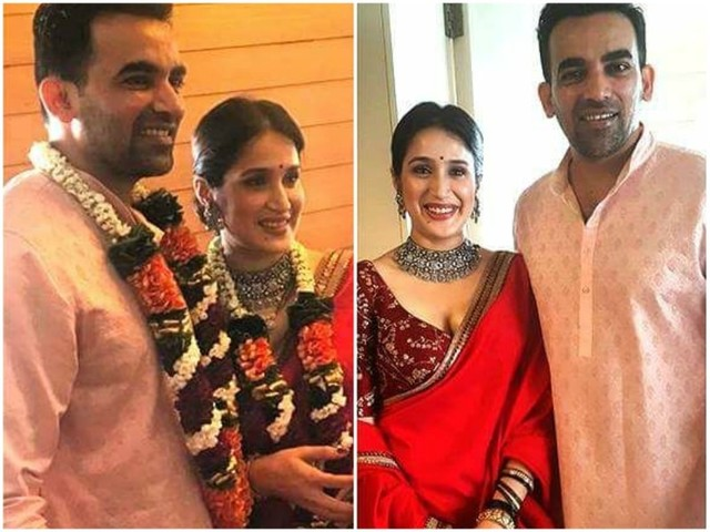 Sagarika-Zaheer look adorable together in their wedding picture