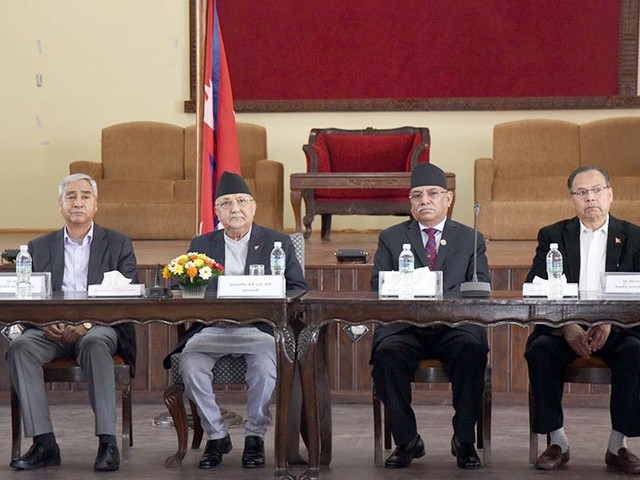 PM Oli holds consultations in connection with Chinese President's visit