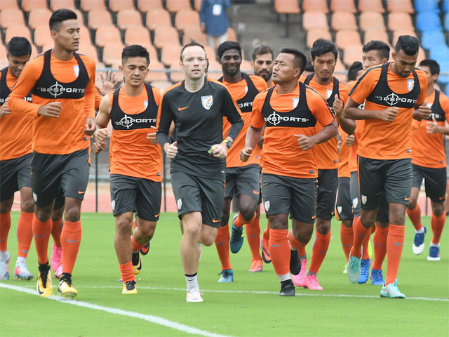 India football team static at 105th in FIFA rankings