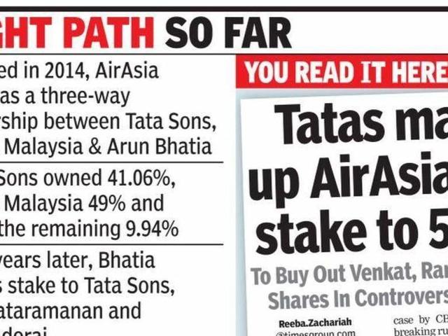 Tata Trusts chief, ex-CEO of TCS exit AirAsia India