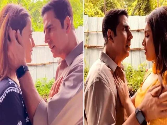 Akshay Kumar करने वाले थे नुपूर सेनन को KISS और तभी हुआ कुछ ऐसा, मजेदार है VIDEO