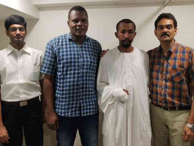 Finger of Sudanese soldier reconstructed in Hyderabad's Gleneagles Global Hospital