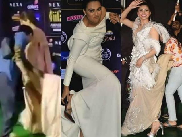 ऐसा भी क्या फैशन! जब दूसरों को संभालनी पड़ गई इन अभिनेत्रियां की ड्रेस, देखें वीडियो
