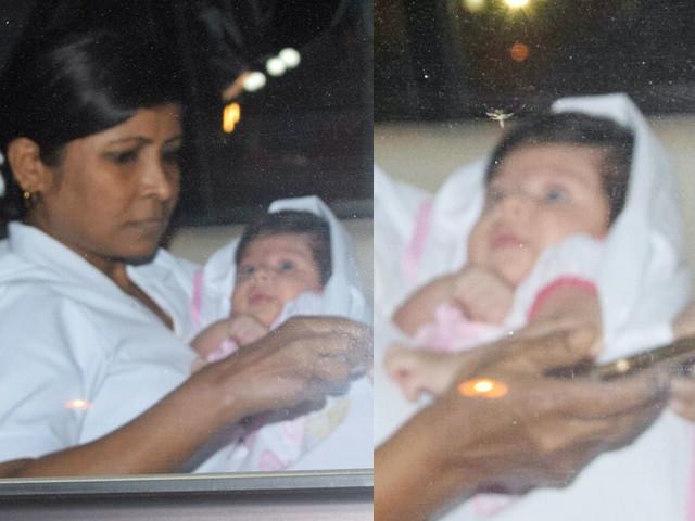 Soha-Kunal take baby Inaaya to visit Taimur