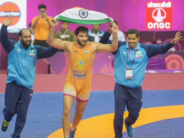 Sunil wins gold in Asian Wrestling Championships