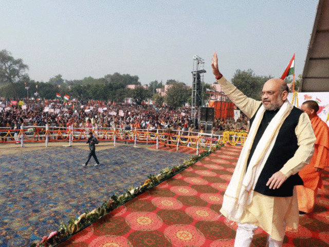 Amit Shah rally violated prohibitory orders, poet Munnawar argues