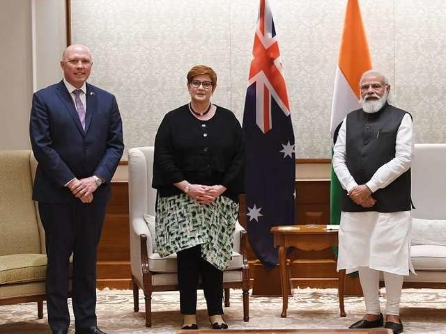 पीएम मोदी ने आस्ट्रेलियाई मंत्रियों से की मुलाकात, टू प्लस टू वार्ता को बताया दोनों देशों के लिए उपयोगी