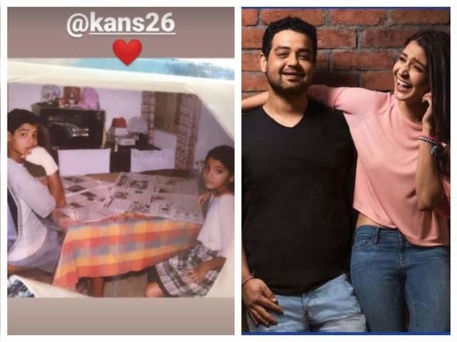 Anushka's childhood pic with Karnesh
