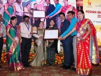 Sangareddy district receives Poshan Abhiyan Award