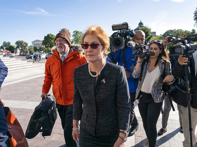 Former Ukraine envoy testifies Trump pushed to oust her