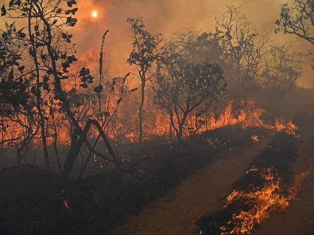 Not even desert safe from wildfire threat in West