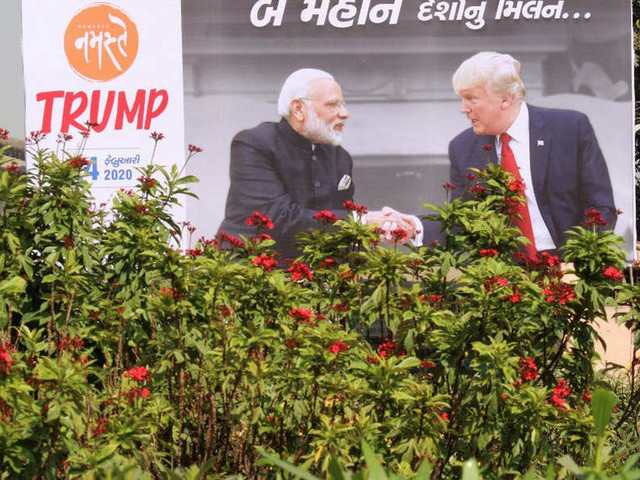 Gujarat gets ready to put up a gala show for Donald Trump