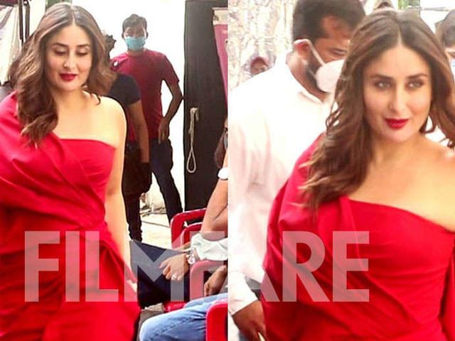Photos: Kareena Kapoor Khan makes a stunning appearance in red