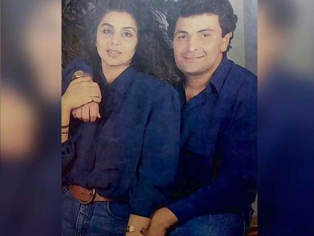Picture of Rishi and Neetu twinning in blue