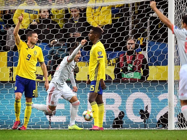 Stuttering Spain draw with Sweden to qualify for Euro 2020