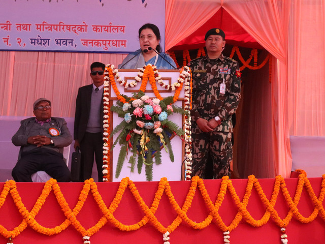 Prez Bhandari says prosperous Nepal only after women are empowered