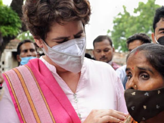Priyanka Gandhi meets two Samajwadi Party women workers 'attacked' during panchayat polls