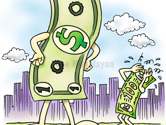 Rupee at fresh low