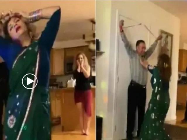 इराणी महिला झाली 'शोलेची बसंती'; जब तक है जान वर नाचली, व्हिडिओ व्हायरल