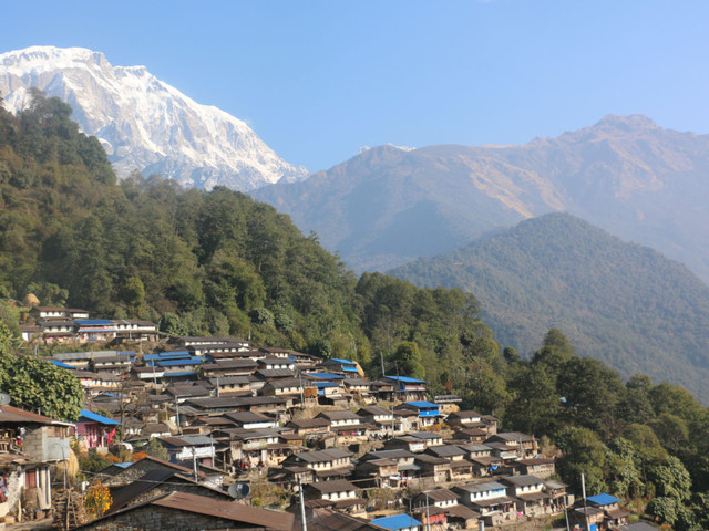 In the lap of mighty Annapurna