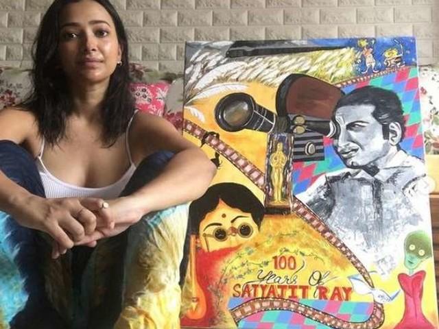 Shweta Basu Prasad ने सत्यजीत रे पर बनाई अपनी पंटिंग बेची इनते लाख में, कोविड फंड में करेंगी दान