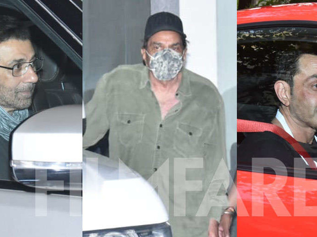 Photos: Sunny Deol and family spotted after the formerâs birthday celebration