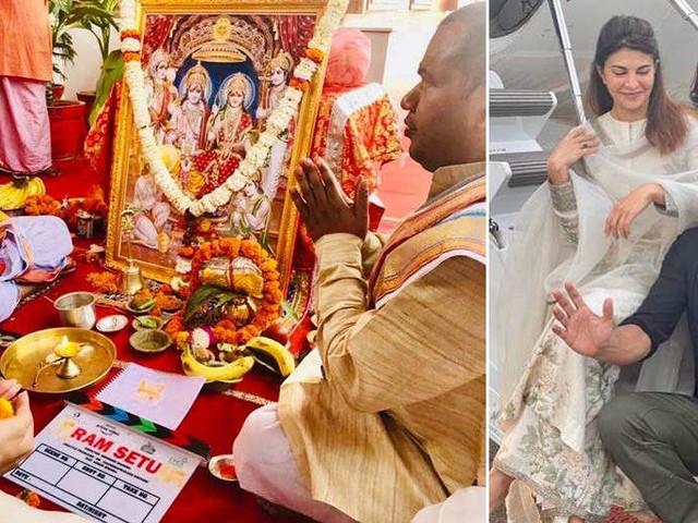 Akshay Kumar shares a picture from Ram Setuâs mahurat pooja