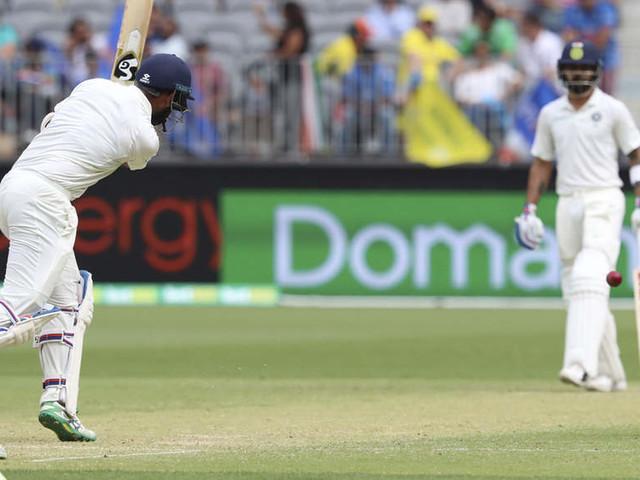 Perth: Virat Kohli, Pujara's over 50-run partnership takes India to 70/2 at tea