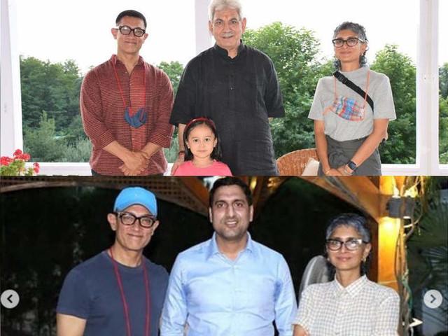 Aamir-Kiran-Azad's happy pics from Srinagar