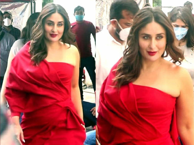 Bebo's glam quotient in an off-shoulder outfit