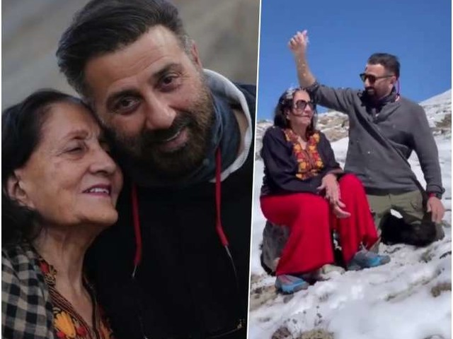 मां के साथ वादियों में बर्फ से खेलते नजर आए सनी देओल, दिल को छू लेगा ये प्यारा सा VIDEO