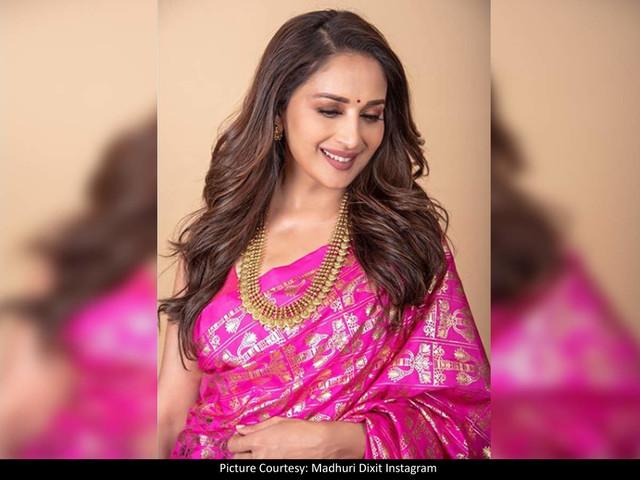Madhuri looks exquisite in THIS pink saree