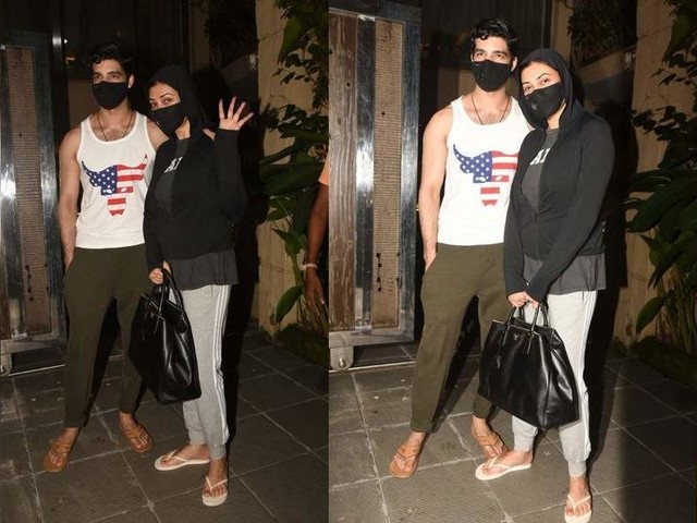 Pics: Sushmita-Rohman get snapped in the city