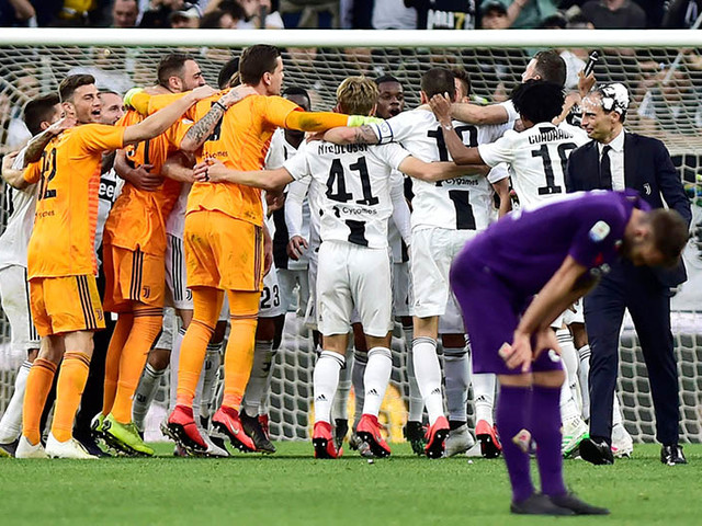 Juventus clinch eighth Serie A title in a row
