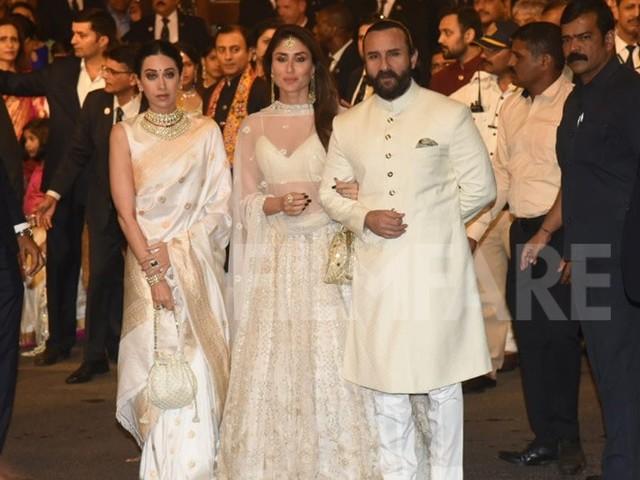 Ambani wedding: Saif Kareena and Karisma Kapoorâs all white look is a 10/10