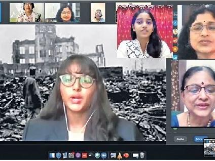 DPS Nacharam: Students recall horrors of Hiroshima