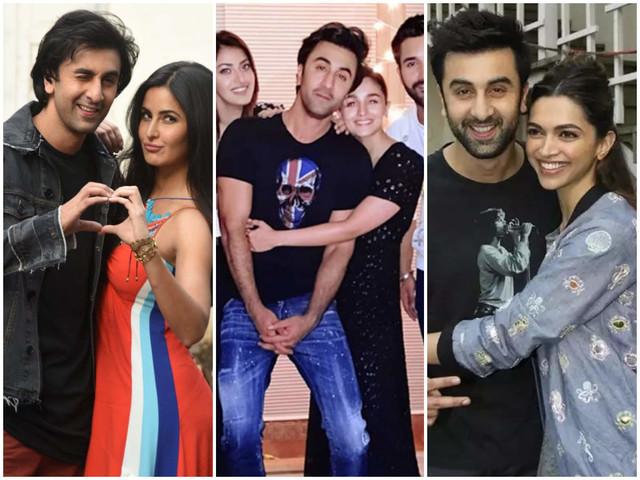 Ranbir hugs it out with Alia, Kat & Deepika