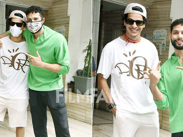 In pictures: Ishaan Khatter and Siddhant Chaturvedi arrive for a meeting in the city