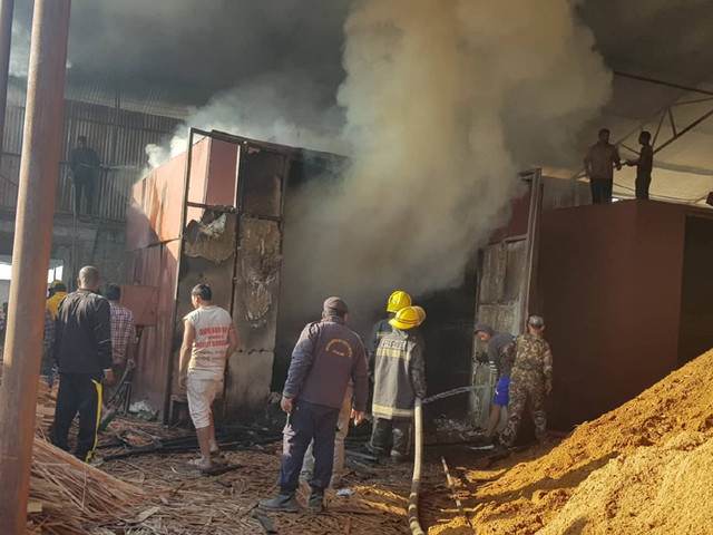 Fire guts plywood factory in Jhapa