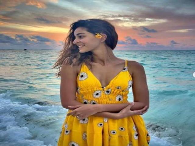 Ananya Panday ने यूं उठाया सनसेट का लुत्फ, देखें वायरल फोटोज